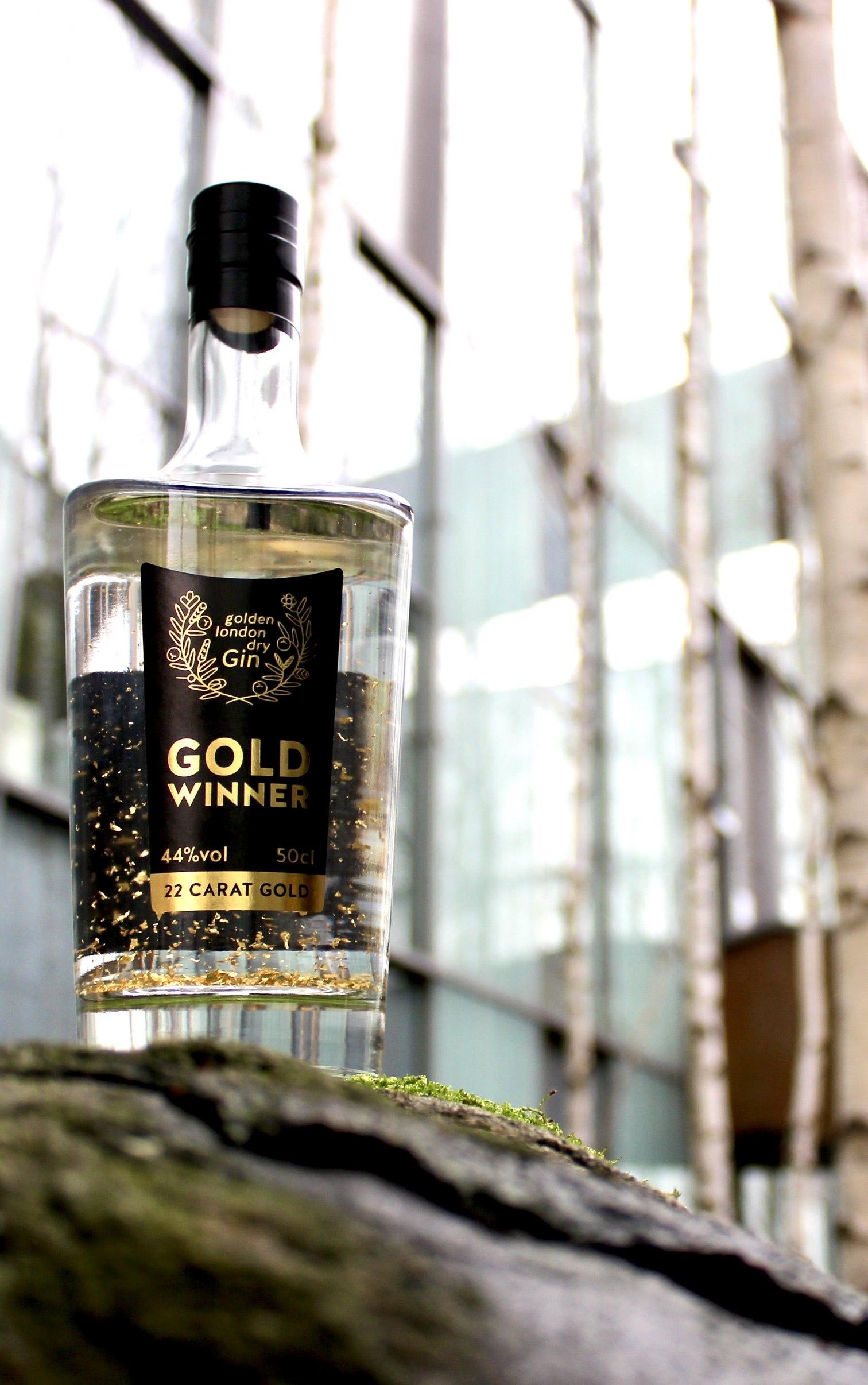 Goldwinner Gin mit echtem Gold