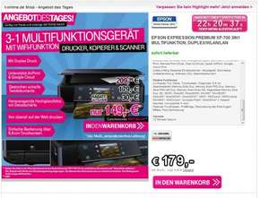 [T-Online] Epson Expression Premium XP-700 3-in-1 Multifunktionsdrucker @ 149€ + Qipu