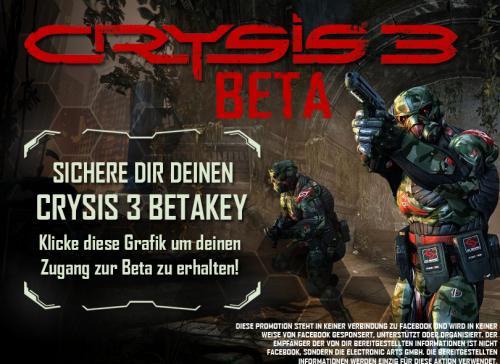 Crysis3 (Deutsch) | Open Beta Facebook Origin Key