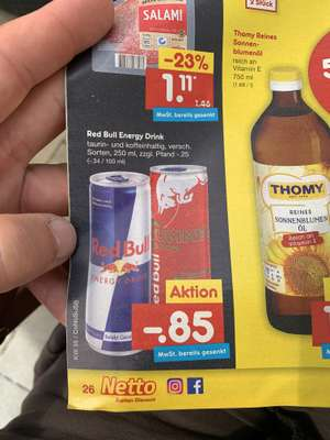 Red Bull Energy Drink bei Netto MD