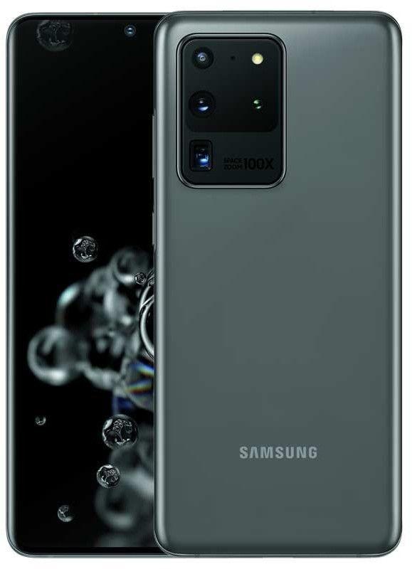 """Samsung Galaxy S20 Ultra 5G 12/128GB Schwarz (6,9"""" WQHD+ 120Hz AMOLED, 220g, Exynos 990, NFC, IP68, Dual-SIM, 5000mAh, 45W, AnTuTu 515k)"""