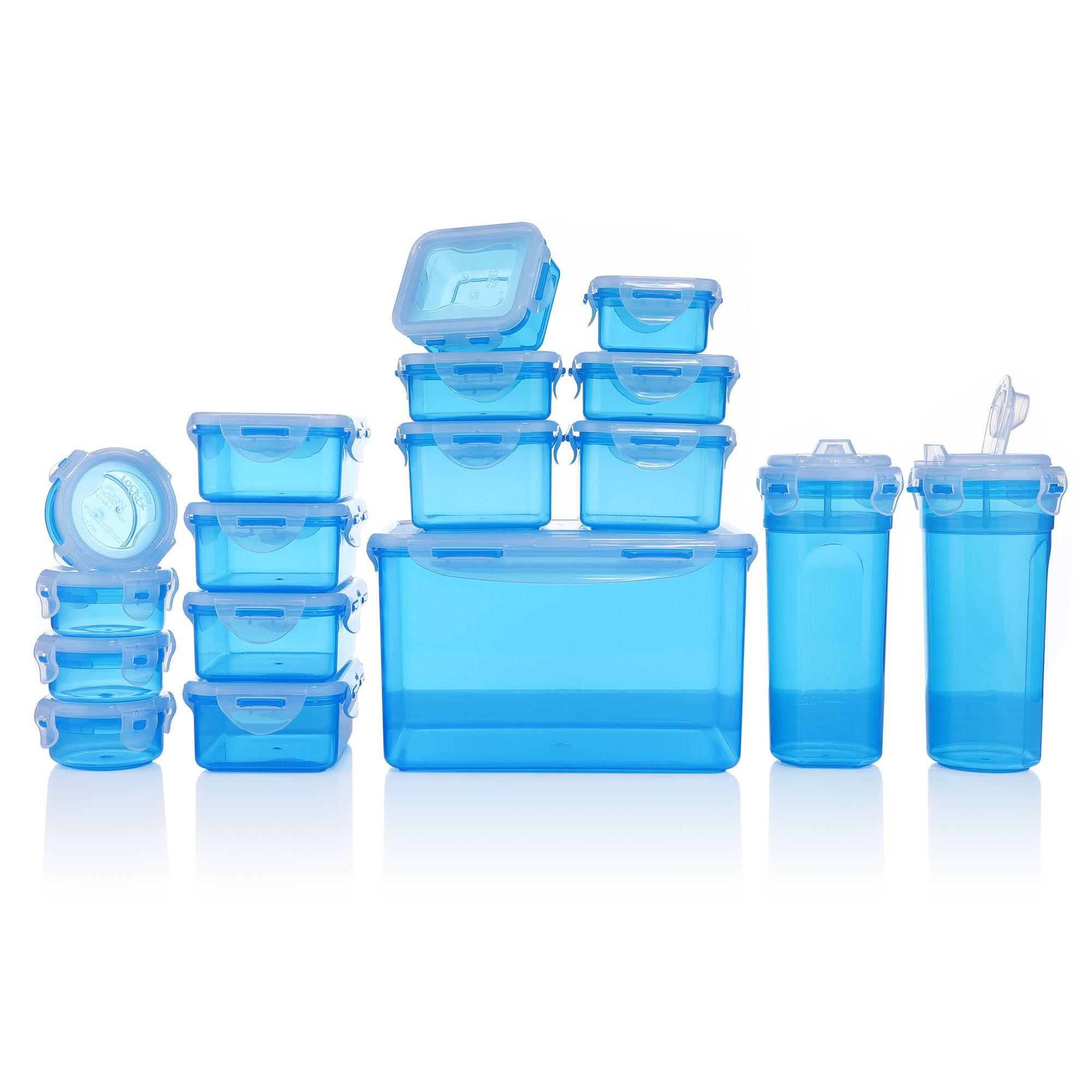 Lock & Lock Frischhaltedosen 15er Pack (100ml bis 4,5 Liter) + 2 Shaker ab 14,48€ (statt 29€)