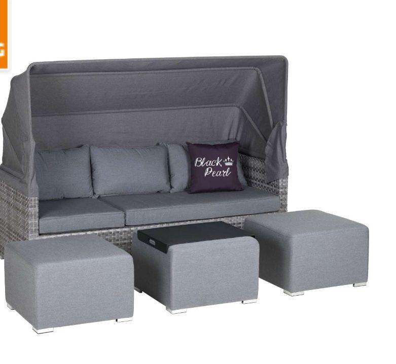 Primaster Lounge-Sofa St. Tropez inkl. Sitz- und Rückenkissen Gartenmöbel