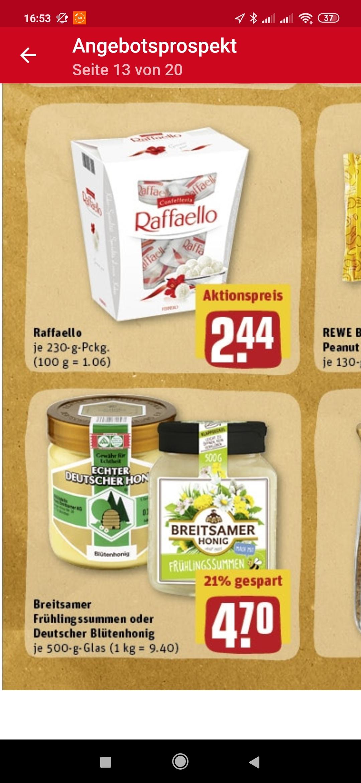 [Lokal Hessen?-Rewe] Echter deutscher Honig: Blütenhonig 500g