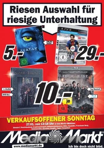Neuer Multimedia Prospekt von Media Markt [lokal - Berlin], z.B. Fifa 13 (PS3) für 29€; Expendables 2 (Blu-ray) für 10€