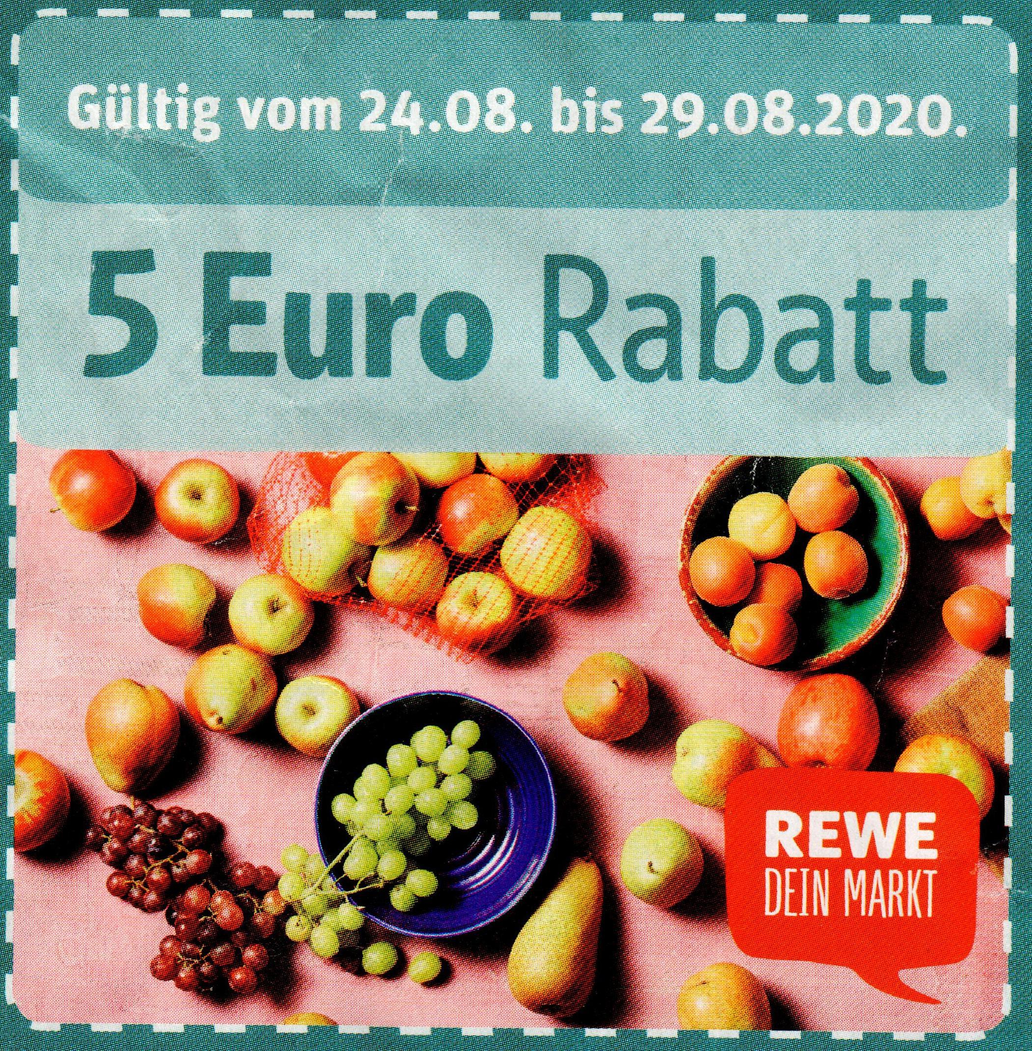 [Rewe Center] Frankfurt, Kassel, Stockstadt, Wiesbaden: 5€ Coupon ab 40€