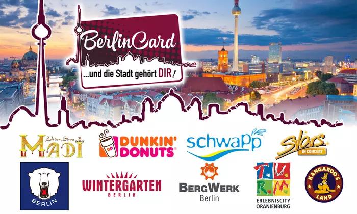 BerlinCard * 1 Jahr für 19,90€ oder 7-Tage für 9 € bei Groupon