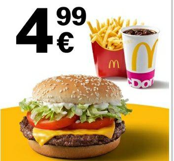 McMenü Small nach Wahl (z.B. BigMac, McRib, Hamburger Royal, Big Vegan TS, etc.) für 4,99€ [McDonalds App]