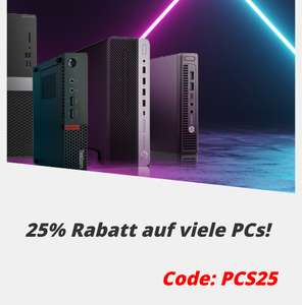 "AfB Shop: 25% Rabatt auf ""viele"" PCs, gültig bis 06.09.2020"