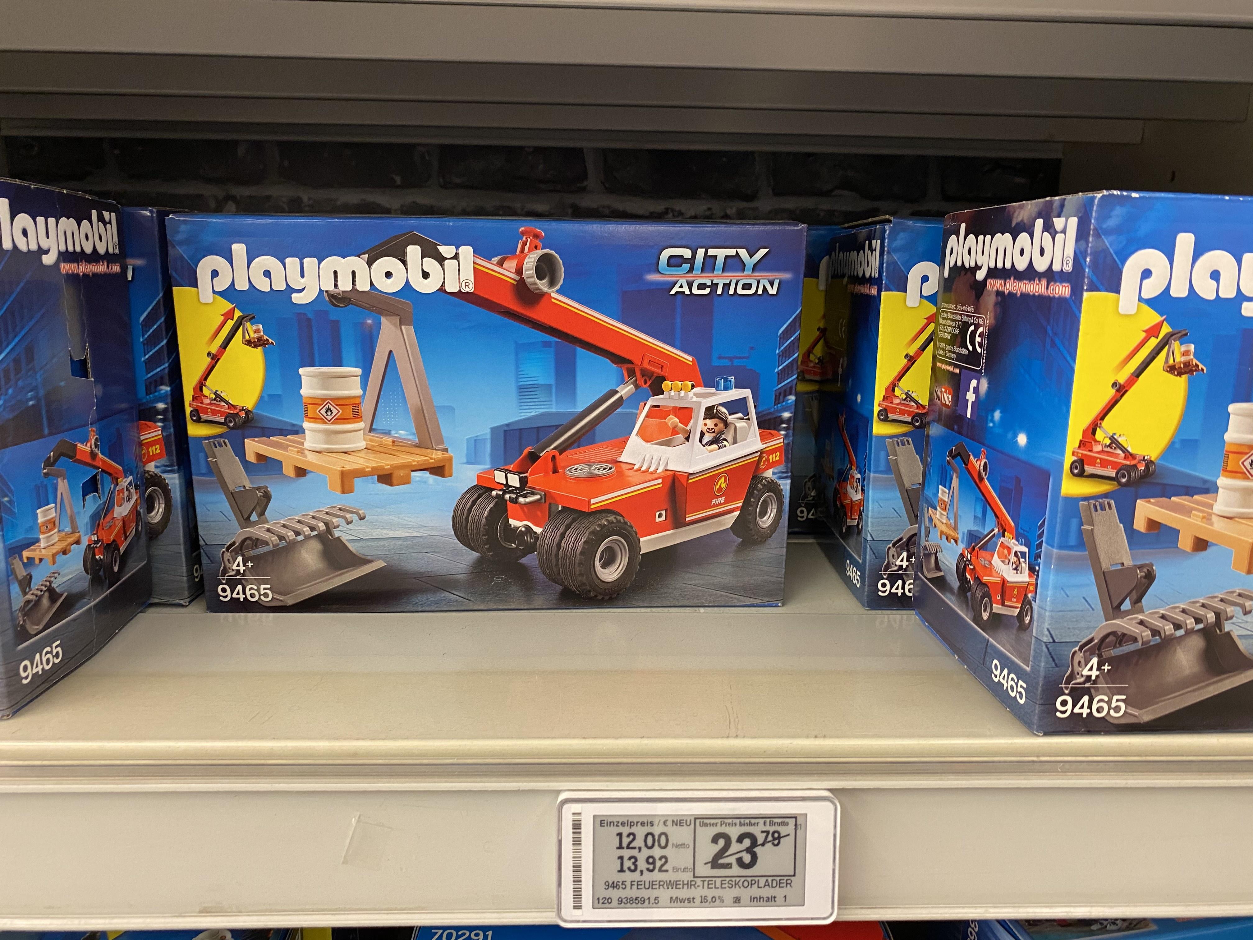(Metro) Playmobil Feuerwehr-Teleskoplader Produktnr.: 9465