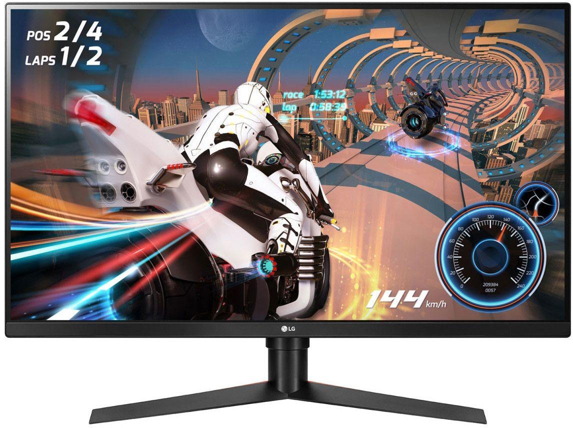"""LG UltraGear 32GK650F-B - 32"""" WQHD Gaming-Monitor (VA, 2560 x 1440, 1 ms, 144 Hz, HDMI, DisplayPort, AMD FreeSync, Pivot)"""