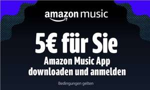 Amazon 5€ Gutschein für Amzon Music Download (Personalisiert)
