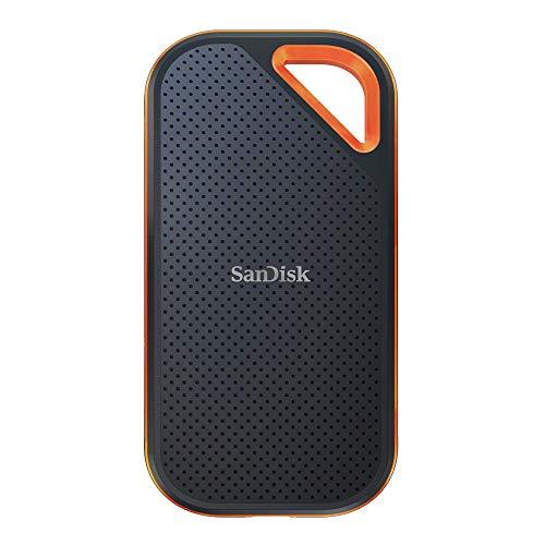 SanDisk Extreme PRO(!) Portable 2TB externe SSD (bis zu 1050 MB/Sek., USB-C, robust und wasserbeständig IP55)