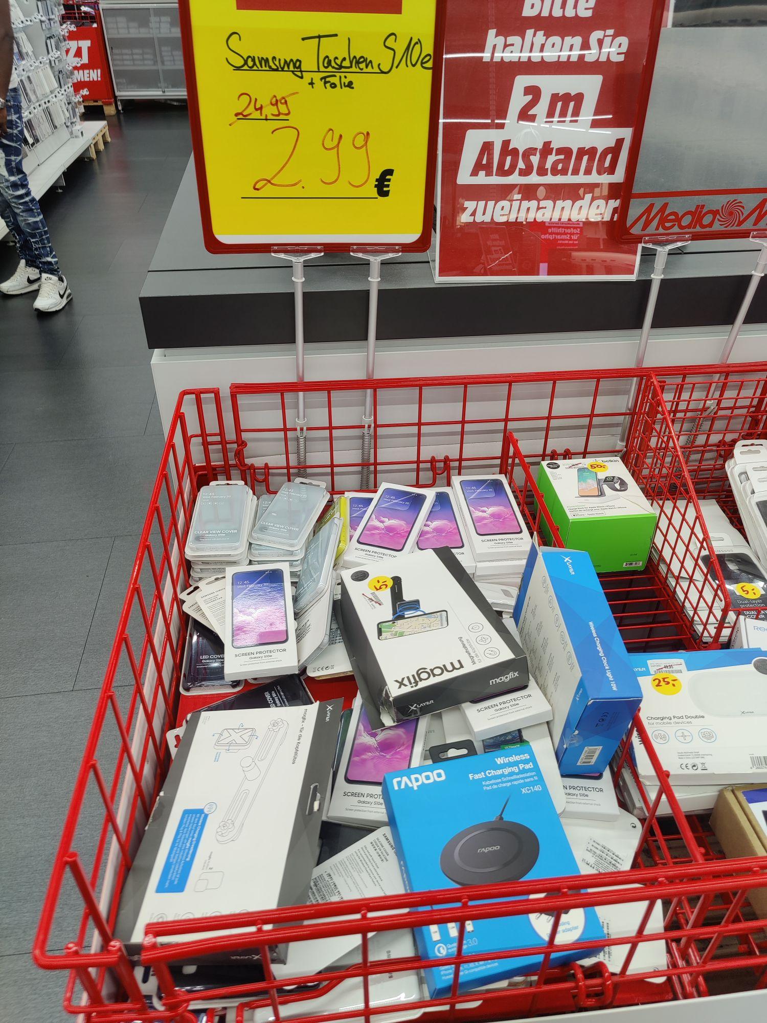 [MediaMarkt - Lokal Gießen] Samsung Galaxy S10E Originale Schutzhüllen und Schutzfolien