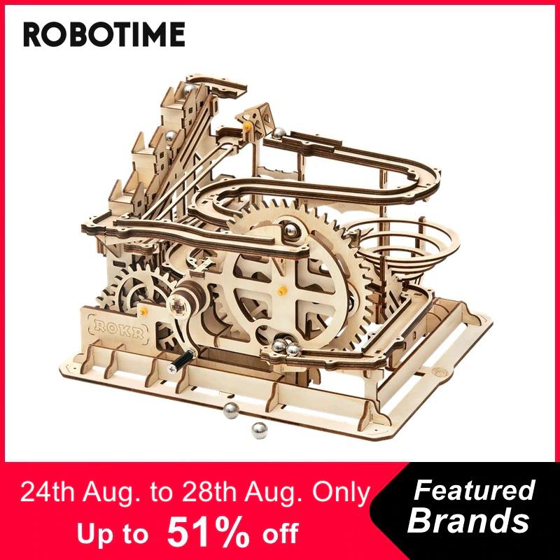 Holzpuzzle 3D Murmelbahn - zahlreiche weitere Robotime Modelle sowie andere Angebote bei Aliexpress