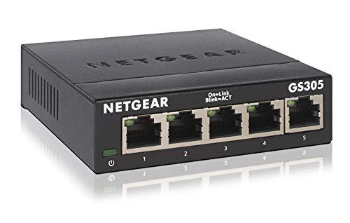 NETGEAR GS305 Switch 5 Port Gigabit Ethernet LAN Switch