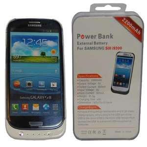 Power Bank Akku Cover Samsung Galaxy S3