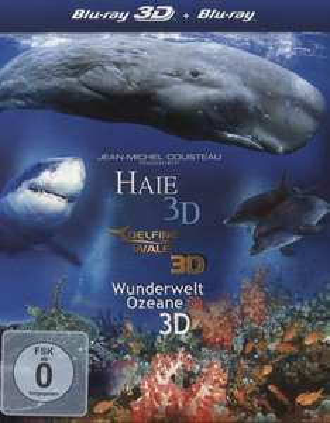 [Thalia-Club] BluRay 3D-Box - Haie 3D/Delfine und Wale 3D/Wunderwelt Ozeane 3D [3 BRs]