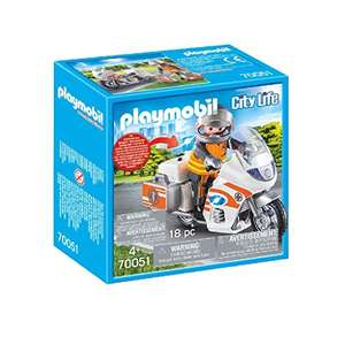 Playmobil City Life - Notarzt-Motorrad mit Blinklicht (70051) für 7,99€ (Amazon Prime & Real Abholung)
