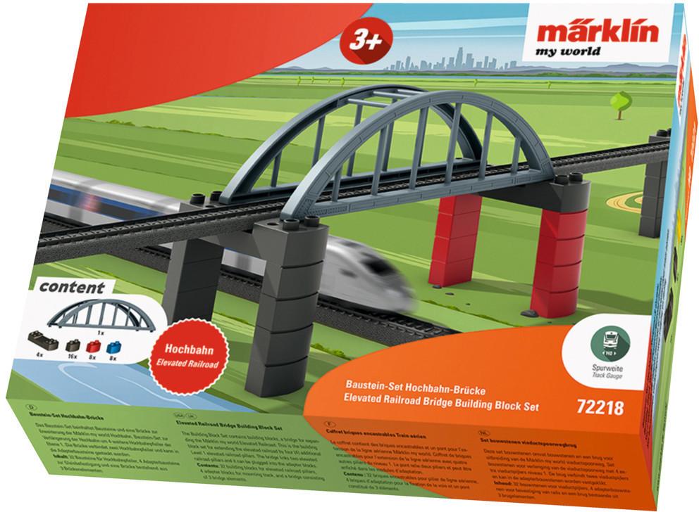 Märklin my world - Baustein-Set Hochbahn-Brücke, Spur H0 für 15,35€ (Amazon Prime & Media Markt Abholung)