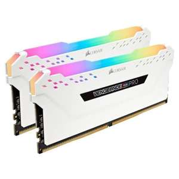 Kit Memory DDR4 Corsair Vengeance RGB PRO 16GB XMP 2.0 Enthusiast (2x8GB) 3200MHz, CL16, weiß