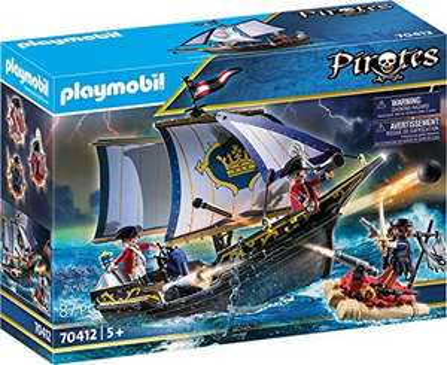 Playmobil Pirates - Rotrocksegler (70412) für 21,99€ & Mitnehm-Pirateninsel (70150) für 15,99€ (Amazon Prime & Real Abholung)