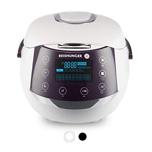 Reishunger Digitaler Reiskocher & Dampfgarer mit Warmhaltefunktion für bis zu 8 Personen