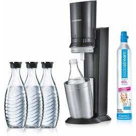Soda Stream Crystal mit 3 Glaskaraffen