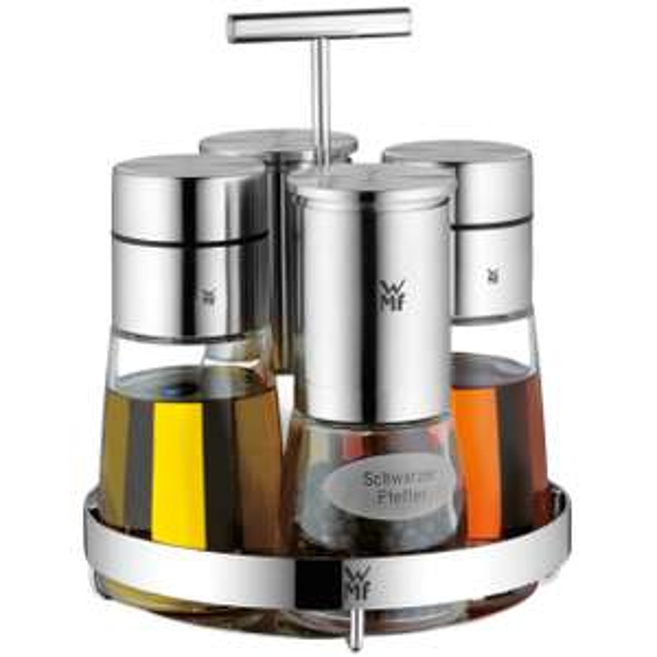 WMF De Luxe Menage-Set 5-teilig, für Salz, Pfeffer, Essig, Öl
