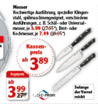 Doppelt_bitte löschen_Lokal Globus Küchenmesser von Küchenprofi z.B. Kochmesser oder Brotmesser