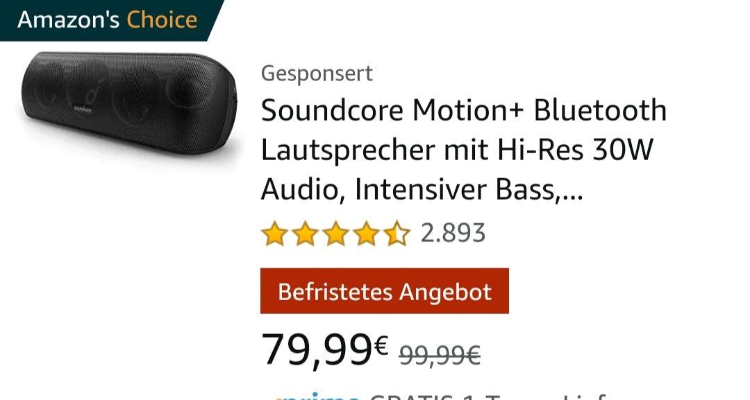 Anker Soundcore Motion + Bluetooth [Amazon]