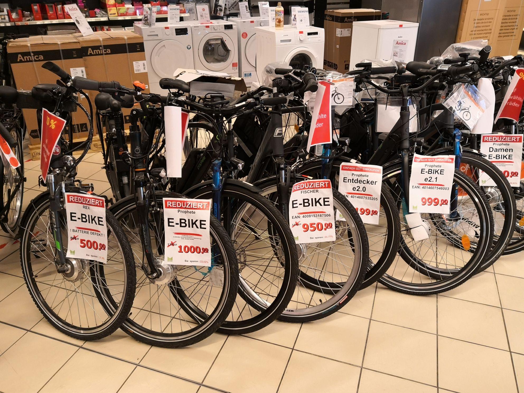 Marktkauf Lokal Harburg 20% auf e-bikes