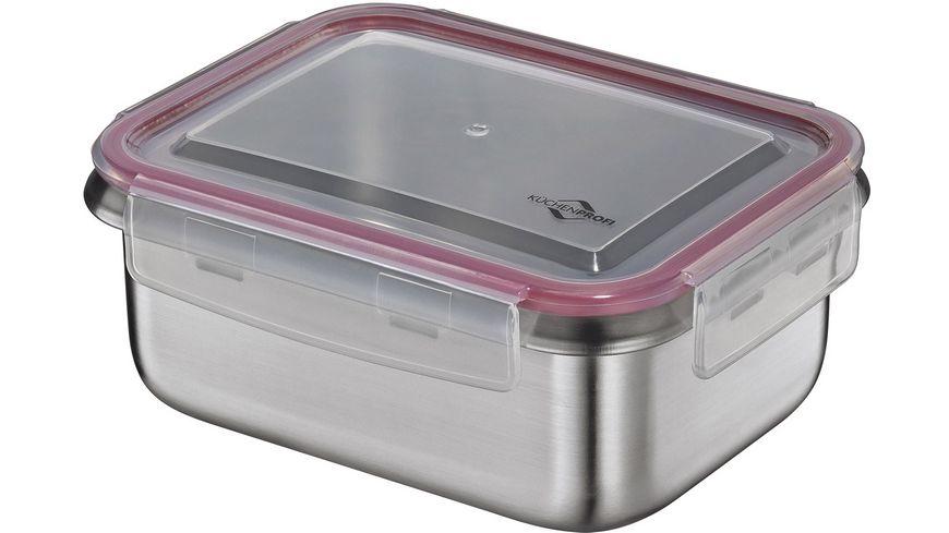 Küchenprofi Lunchbox aus Edelstahl 14 x 18,5 cm 1,0 Liter für 9,75€ (Müller Abholung)