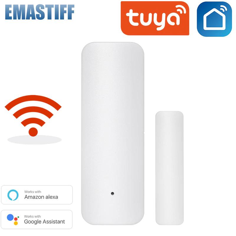Tuya Smart WiFi Türsensor Tür Offen/Geschlossen Detektoren WiFi App (Neukunden)