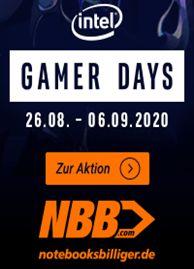 Intel Gamer Days bei NBB: Diverse Notebooks, PCs, Monitore, PC-Komponenten, Netzwerk-Produkte & Zubehör