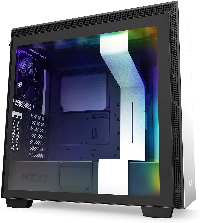 NZXT H710i - ATX-Mid-Tower Gaming PC-Gehäuse (Front USB-C, Tempered Glass, Vertikale GPU möglich, für Wasserkühlung nutzbar)