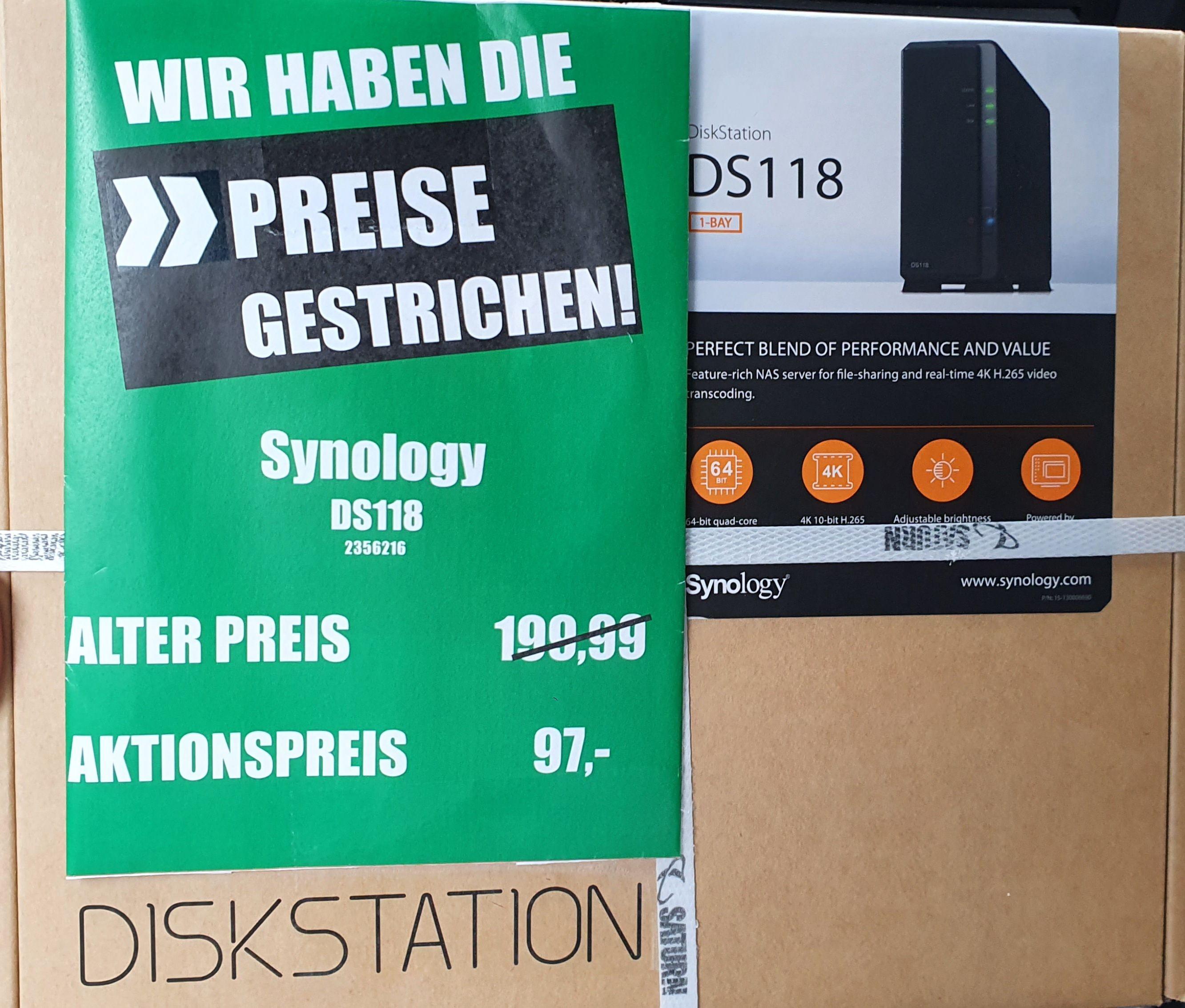 Mannheimer Saturn - Synology DS118 Diskstation