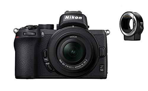 Nikon Z 50 KIT DX 16-50 mm VR + FTZ Objektivadapter Kamera