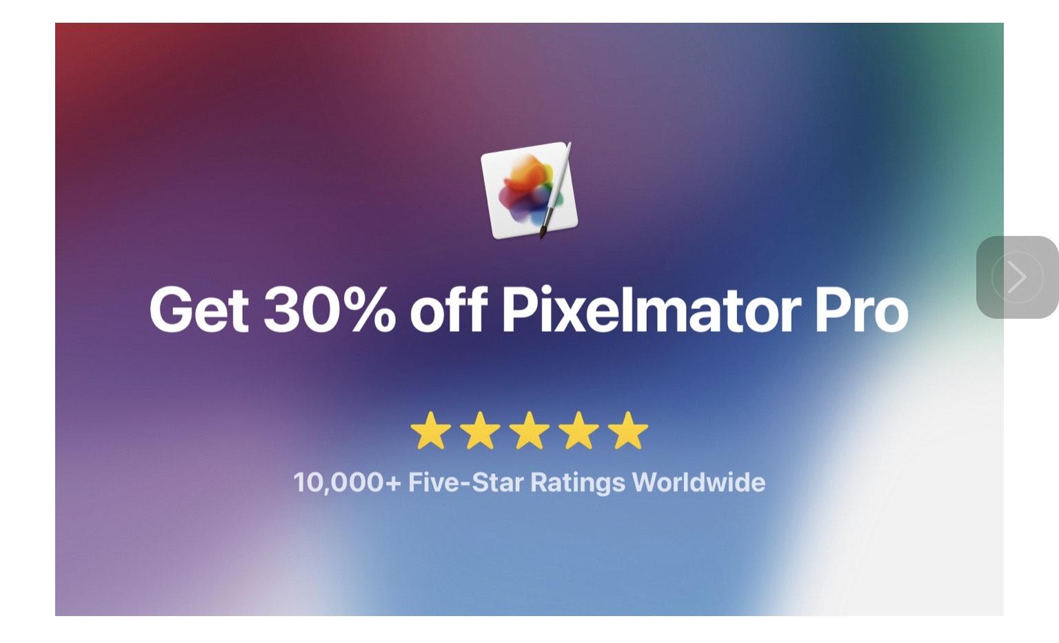 Pixelmator Pro für den Mac 30% runtergesetzt