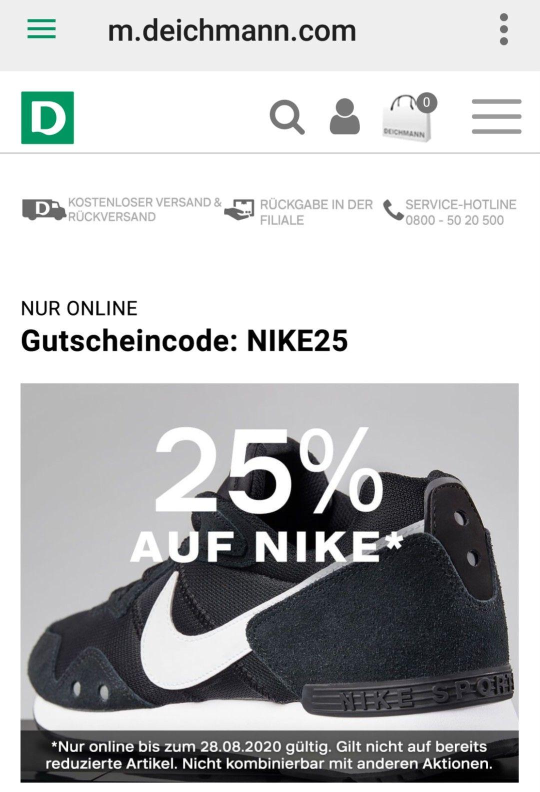 25% Nike Deichmann online