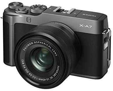 Fujifilm X-A7 Systemkamera (24,2 Megapixel) inkl. XC15-45mmF3.5-5.6 OIS PZ Objektiv Kit dunkelsilber