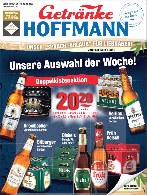 2 Kisten Bier für 20,20 € div sorten z.B. Kombacher oder Veltins 2 x 24 x 0,33l oder 2 x 20 x 0,5Lzzgl. Pfand