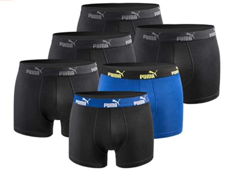[Amazon] PUMA Boxershort Limited Edition 6er Pack für 26,59€ / 9er Pack für 38,89€ (4,32€ pro Stück), PUMA Sneakersocken 18 Paar für 23,74€