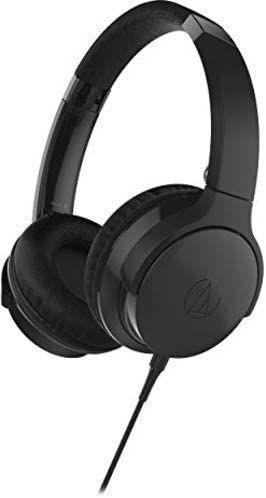 Audio-Technica ATH-AR3iSBK portabler On-Ear Kopfhörer (faltbar, geschlossen, 40mm Treiber)