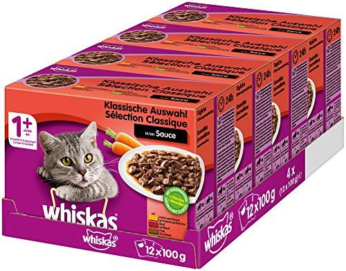 Whiskas Katzenfutter 4 x 48x100g (19,2 kg) für 25,20 (1,31€/kg)