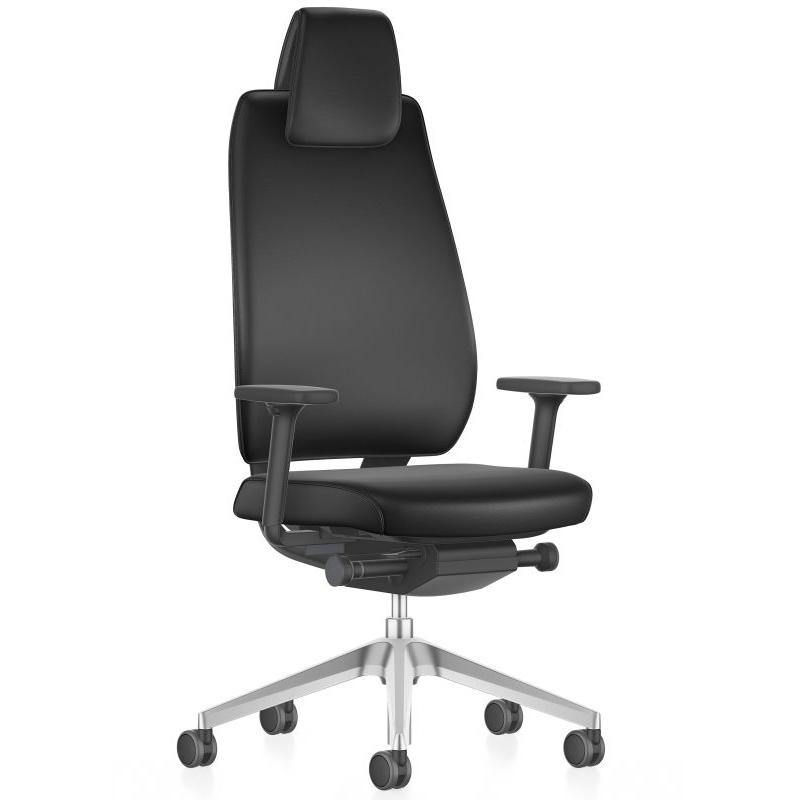 Ergonomischer Bürostuhl mit Vollausstattung und Echtleder - Interstuhl JOYCEis3 Chefsessel
