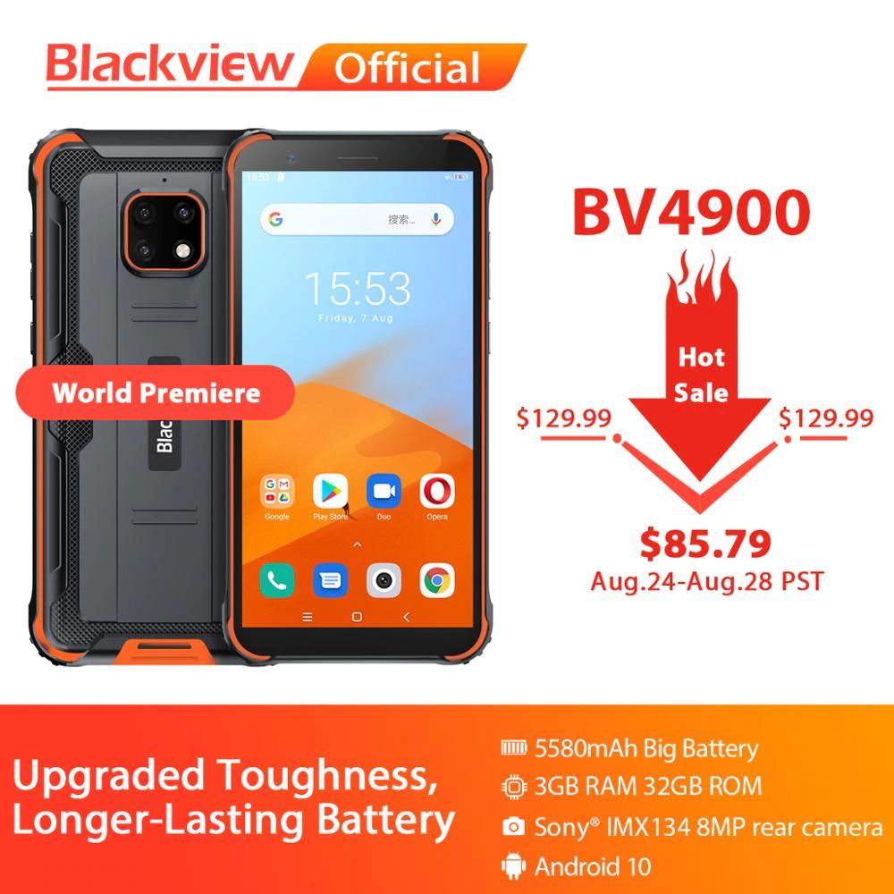 Blackview BV4900 Android 10 Robuste Wasserdichte Smartphone 3+32GB