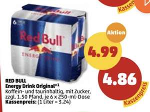 [PENNY] Red Bull 6x0,25L 4,86€ (0,81€/Dose)