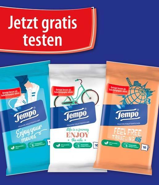 [Gratis testen] Tempo feuchte Toilettentücher 100% plastikfrei und biologisch abbaubar