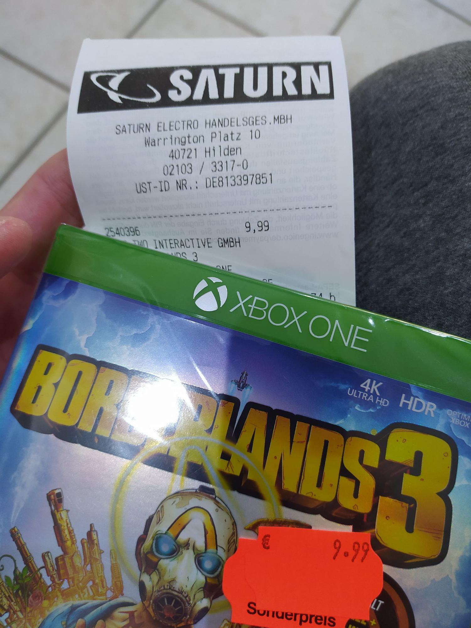 Borderlands 3 für 9,99€ im Saturn Hilden Xbox und Playstation (LOKAL)